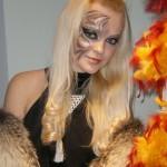 Новогодний тигровый макияж
