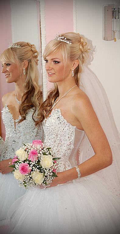 Свадебные прически блондинка