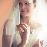 Свадебный макияж и причёска для Евгении