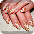 Гелевое наращивание ногтей Осень
