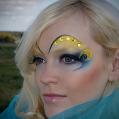 Фантазийный макияж Golden sky