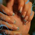 Гелевое наращивание ногтей+роспись