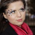 Фантазийный макияж на акварели