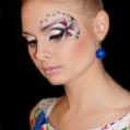 Фантазийный макияж и причёска Весеннее ретро