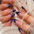 Аквариумный дизайн ногтей Violet colours