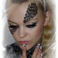 Фантазийный макияж The queen of spades