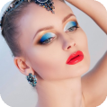 Яркий макияж в акварели