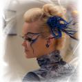 Фантазийный макияж Blue rose